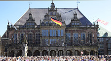 This picture shows the Bremen Rathaus